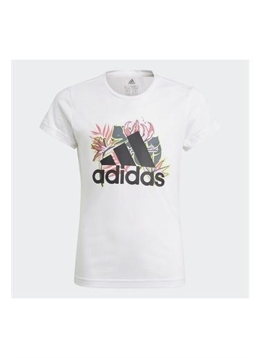 adidas Adidas Kız Çocuk Koşu - Yürüyüş T-Shirt G Up2Mv Tee Gm8376 Beyaz